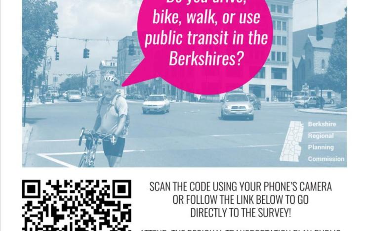 Take the RTP public survey by clicking www.surveymonkey.com/r/berkshireplan and consider attending a public meeting on 10/17/18.